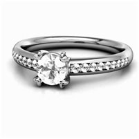 Each diamond is set with the security of platinum prongs.