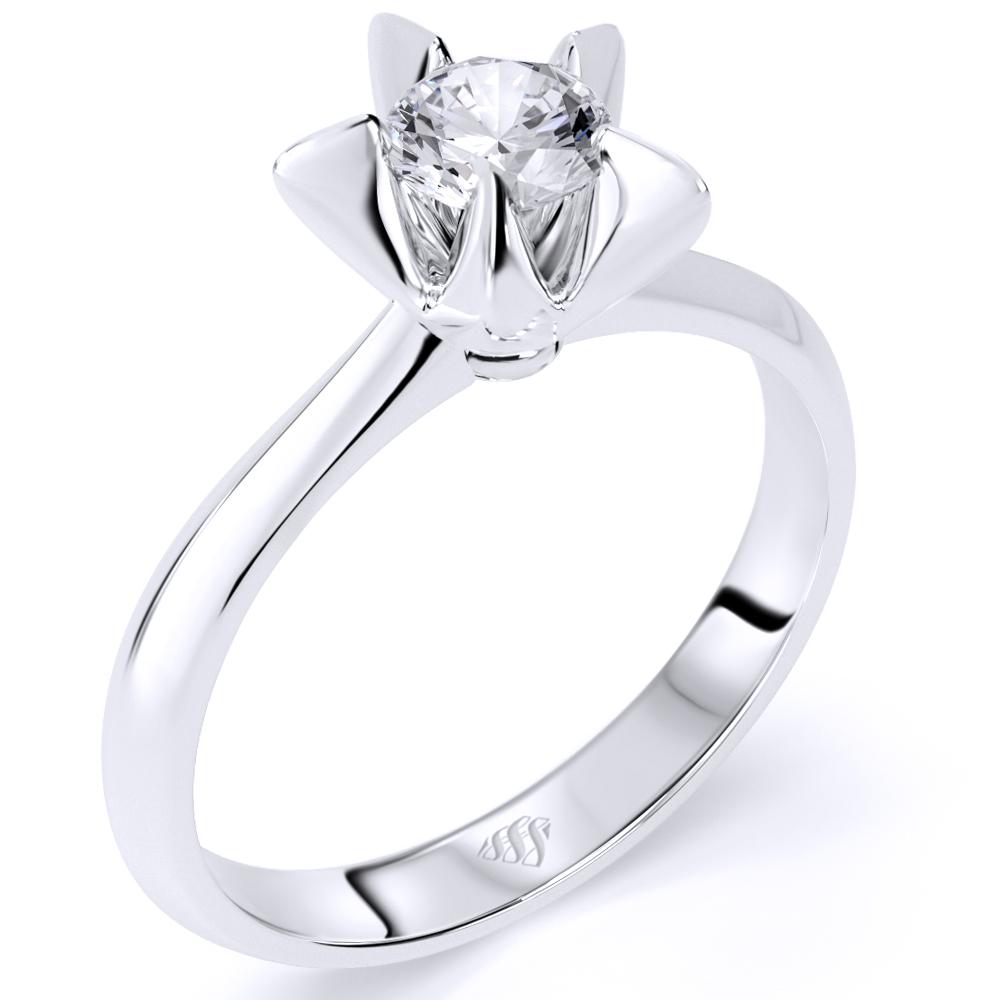 White Gold Star Shaped Diamond Ring Firesc Shop