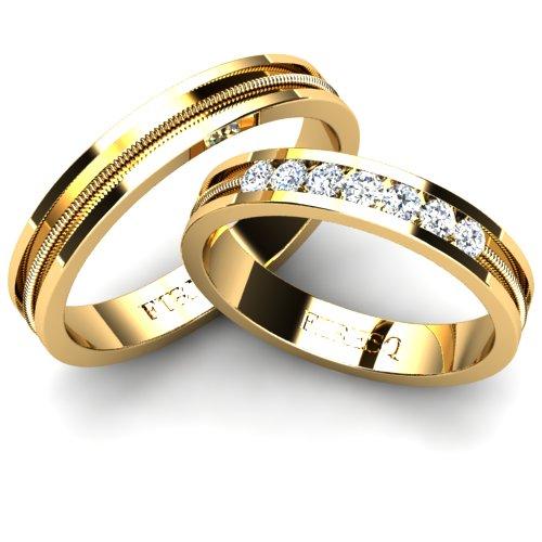 Vintage Inspired Wedding Ring With Diamonds Firesc